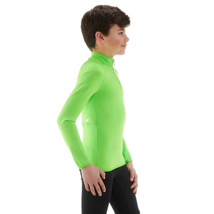 Thermisch skiondershirt voor kinderen Freshwarm 1/2 rits groen