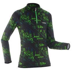 Camiseta térmica de esquí Niños Freshwarm 1/2 cremallera Graph