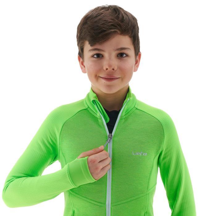Midlayer voor skiën kinderen Mid Warm 500 groen