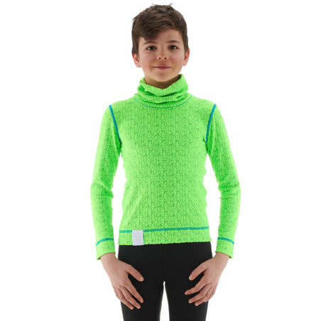 2Warm Children's Ski Underwear Top - Green