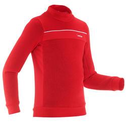 Sous-veste de ski enfant MID WARM 100 Rouge