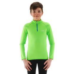 Skiunterwäsche Funktionsshirt Freshwarm Reißverschluss Kinder grün