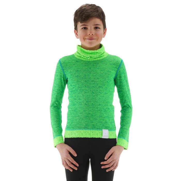 Skiunterwäsche Funktionsshirt 2Warm Kinder grün