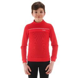 Chaqueta térmica de esquí niño MID WARM 100 roja
