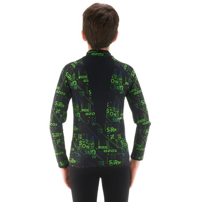 Camiseta térmica esquí y nieve interior Wed'ze Freshwarm cremallera niños Negro