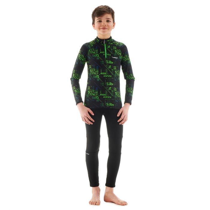 Sous-vêtement de ski enfant Haut Freshwarm 1/2 zip Graph