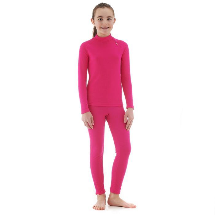 Sous-vêtement haut de ski enfant 100 Rose