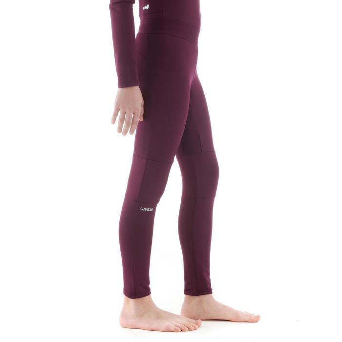 Sous-vêtement de ski enfant FRESHWARM bas prune
