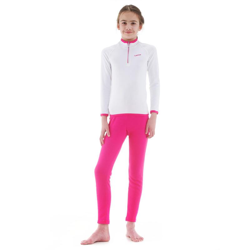 Pantalón de esquí niño 100 rosado