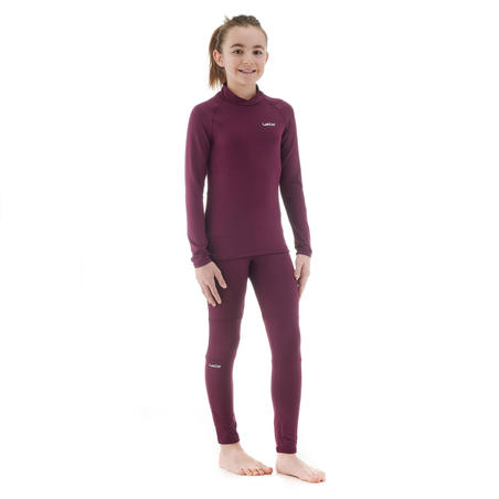 Kids' Ski Long Underwear FreshWarm - Plum