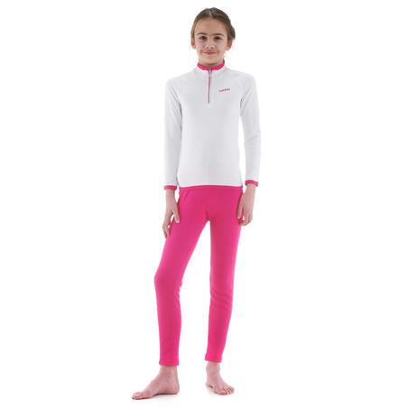 Sous-vêtement de ski enfant Haut Freshwarm 1/2 glissière Blanc