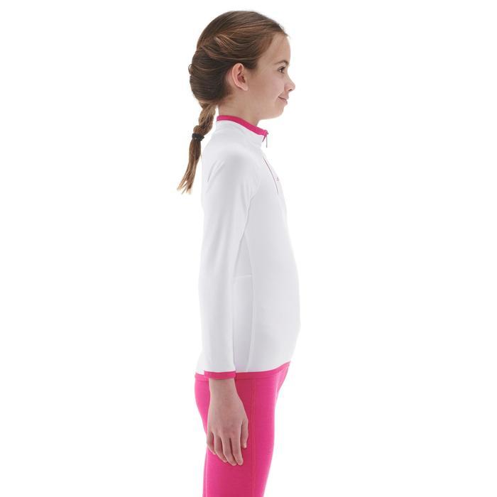Thermisch skiondershirt voor kinderen Freshwarm 1/2 rits wit