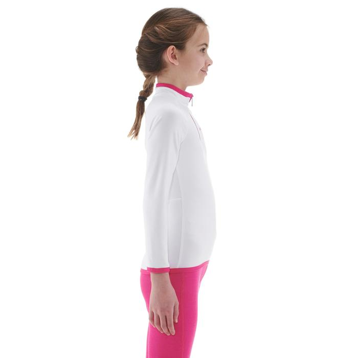 Thermoshirt voor skiën kinderen Freshwarm 1/2 rits wit