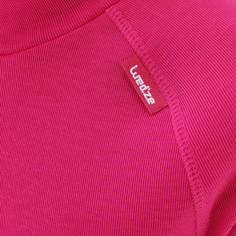 Camiseta de esquí niño 100 rosada