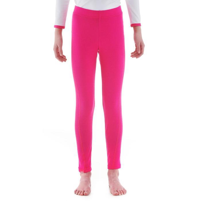 Skiunterhose Funktionshose 100 Kinder rosa