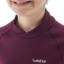Camiseta térmica esquí y nieve interior Wed'ze Freshwarm niños ciruela
