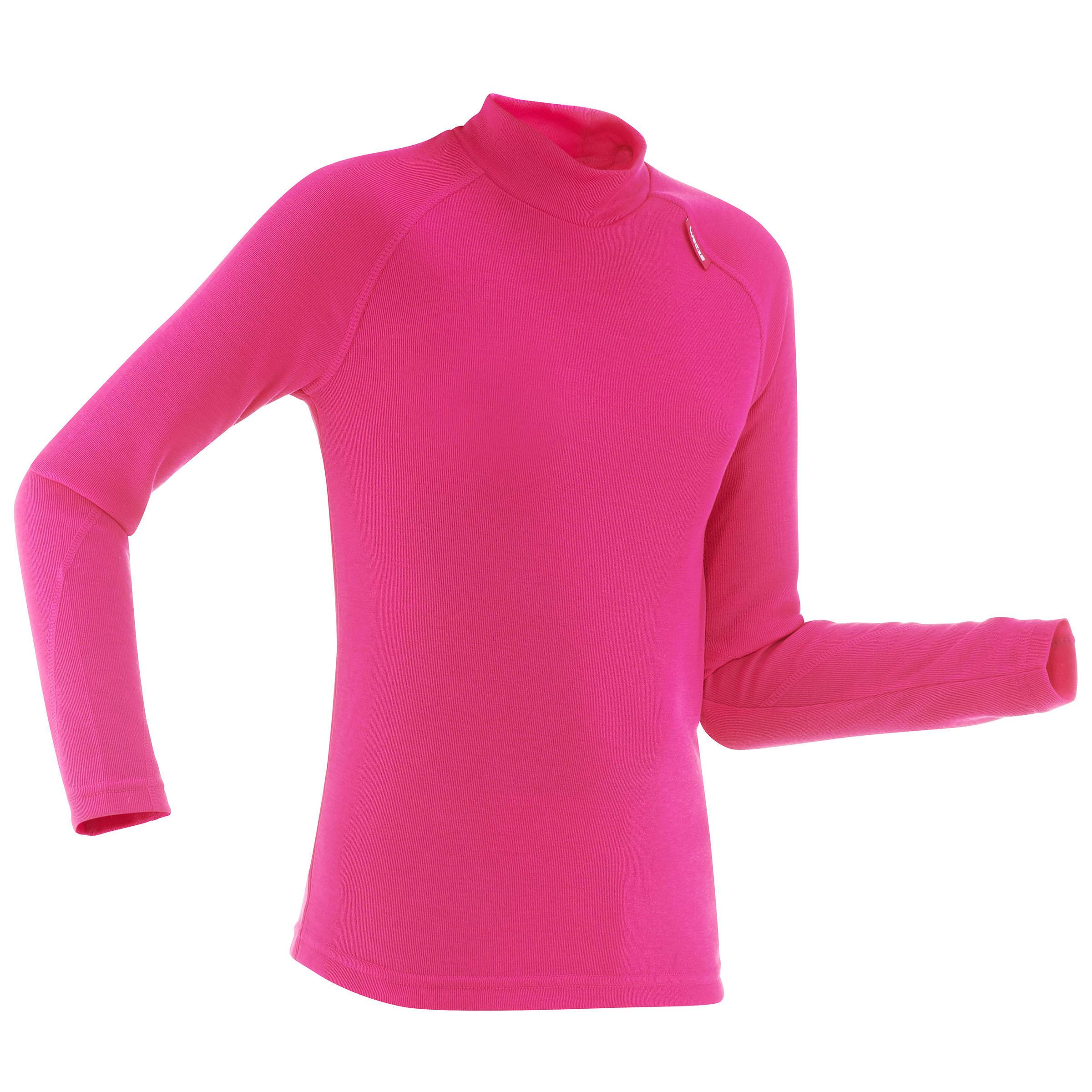 Camiseta de esquí niño 100 rosa
