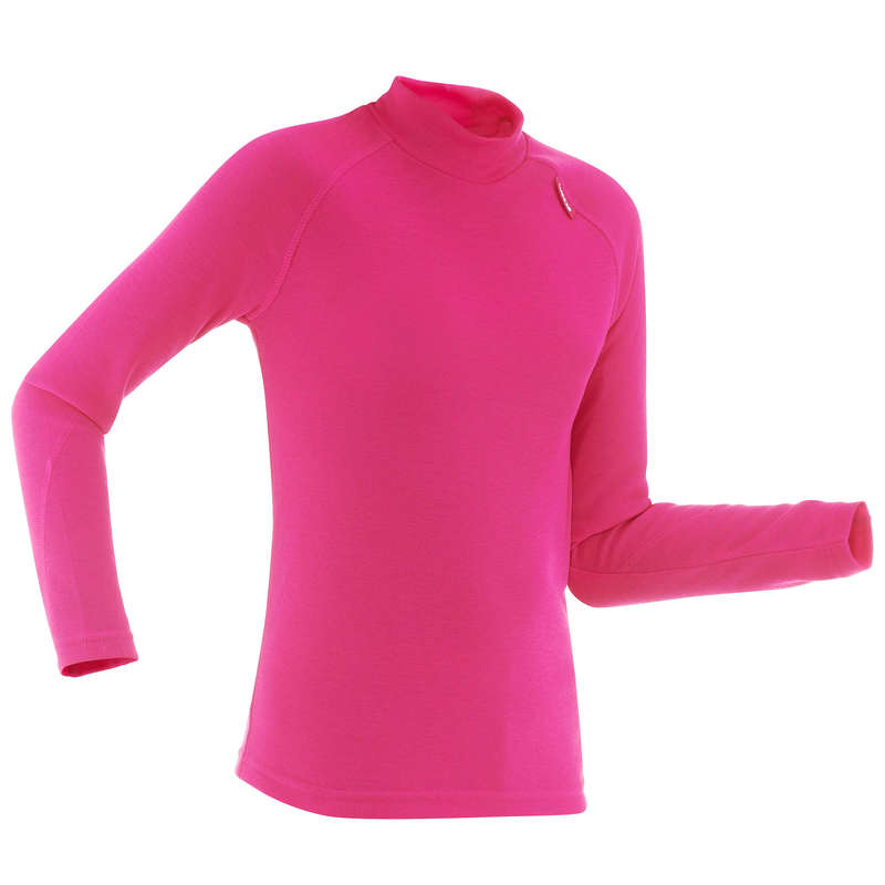 GIRL SKI BASELAYER & PULL Skiing - JR BASE LAYER SKI TOP 100 - P WEDZE - Ski Wear