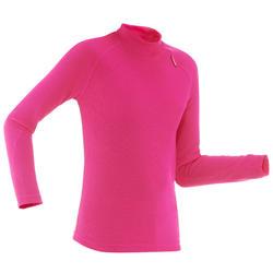 Kinder thermoshirt voor skiën 100 roze