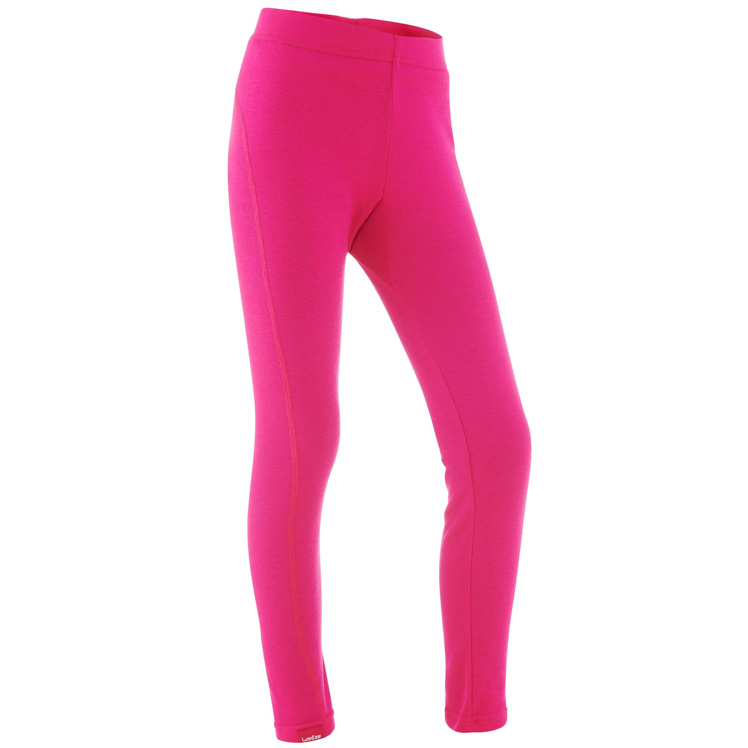 Kids' Ski Underwear Bottom 100 - Pink