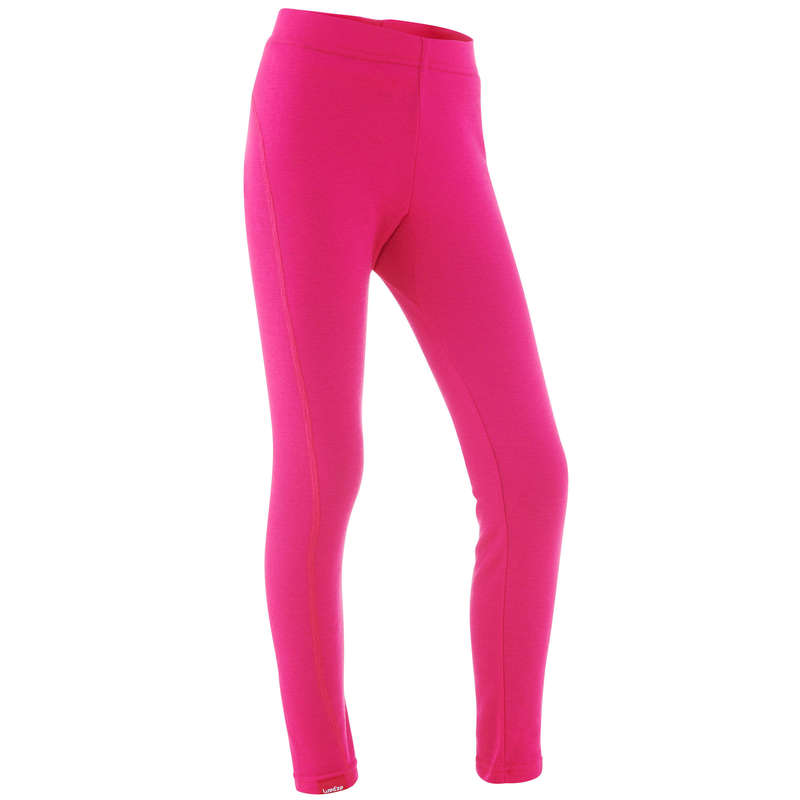 GIRL SKI BASELAYER & PULL Clothing - JR SKI UNDERWEAR BOTTOM 100 WEDZE - Bottoms