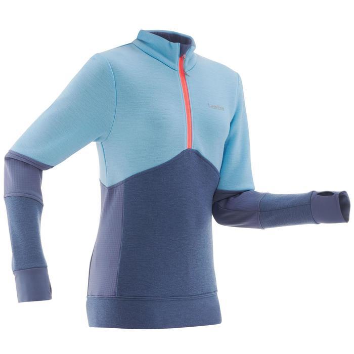 Chaqueta térmica de esquí júnior MID WARM 300 azul