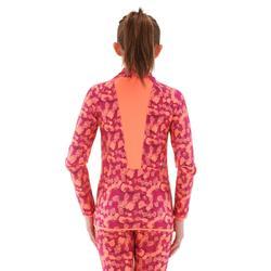 Sous-vêtement de ski enfant Haut Freshwarm 1/2 zip Rose