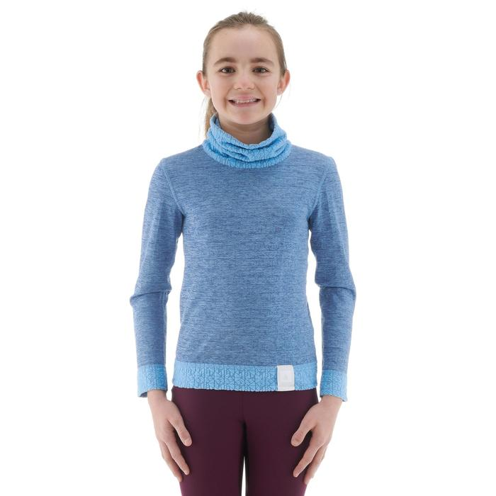 Camiseta Térmica Interior Nieve y Esquí Wed'ze 2Warm Niños Rosa/Fucsia