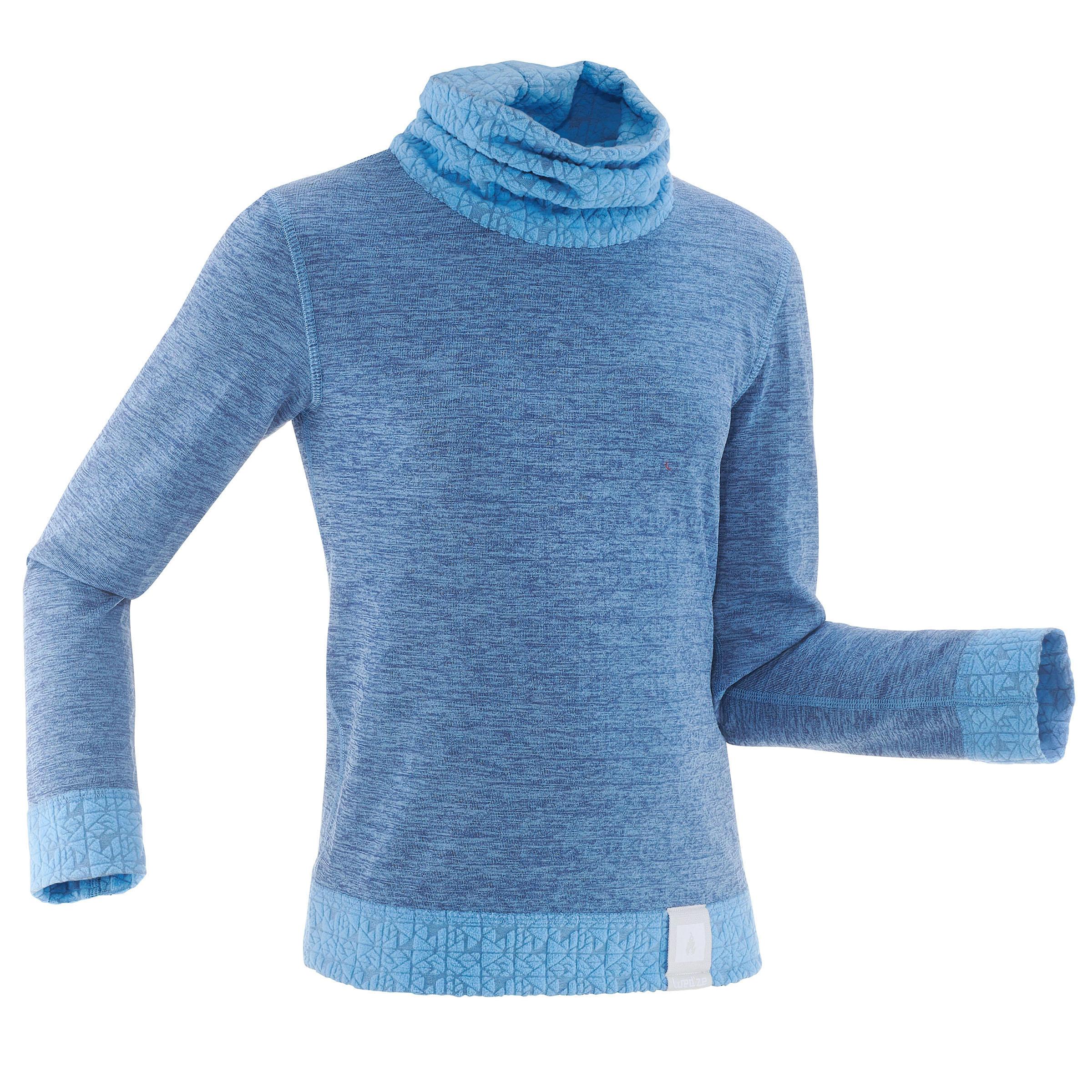 Subtraje-camiseta de esquí niño 2WARM azul