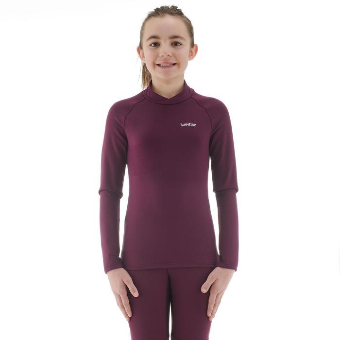 Sous-vêtement de ski enfant FRESHWARM haut prune