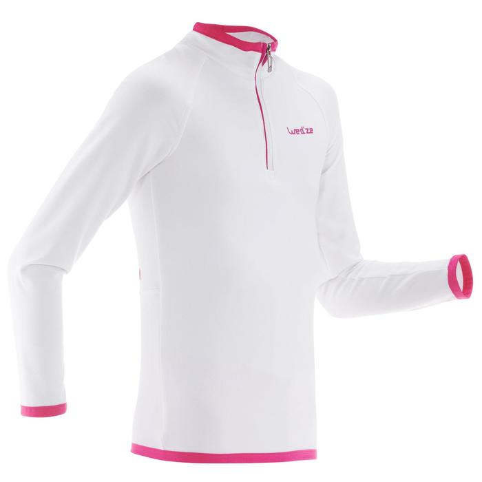 Sous-vêtement de ski enfant Haut Freshwarm 1/2 zip Blanc