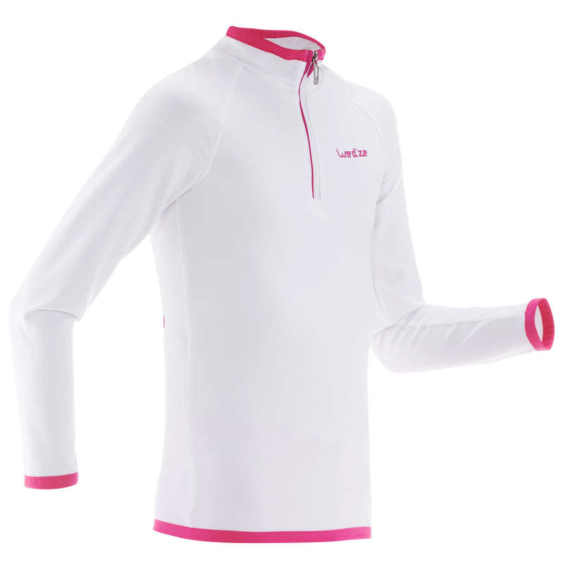 GIRL SKI BASELAYER & PULL Ski Wear - JR BASE LAYER SKI TOP FS ZIP  WEDZE - Ski Wear