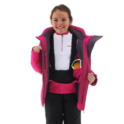Ski-jas voor kinderen 900 roze/paars