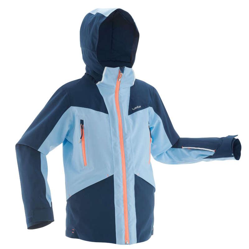 GIRL ADVANCED ON PIST SKIING CLOTHS Clothing - JR D-SKI JACKET 900 - BLUE WEDZE - Coats and Jackets