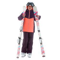 Ski-jas voor meisjes SKI-P JKT 500 paars en koraal
