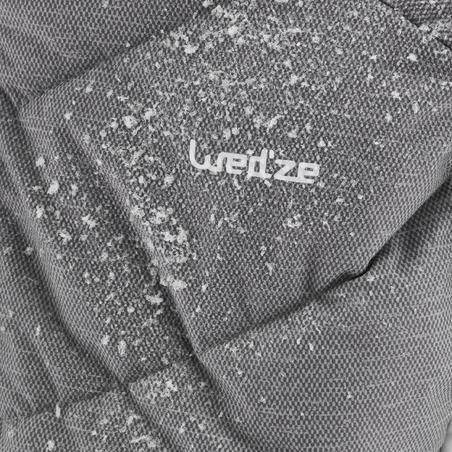Kids' Ski Warm Jacket 500 - Grey and White