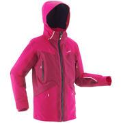 Rožnata smučarska jakna 900 za deklice