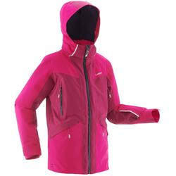 Skijacke Slide 700 Kinder rosa/neonorange