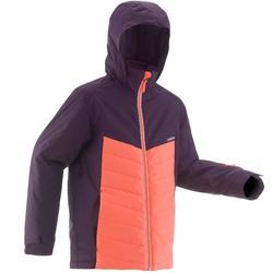 Ski-jas voor kinderen 300 zwart/koraalrood