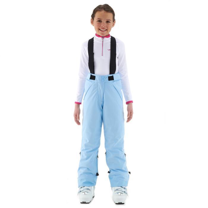 Skihose Piste 900 PNF Kinder blau