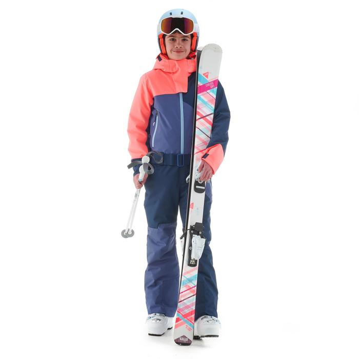 Schneeanzug Skianzug 500 Kinder blau/korallenrot
