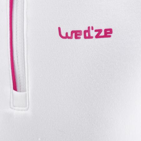 Kids' 1/2 Zipper Base Layer Ski Top Freshwarm - White