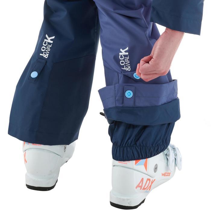 Skipak voor kinderen SKI-P SUIT 500 koraalrood/blauw