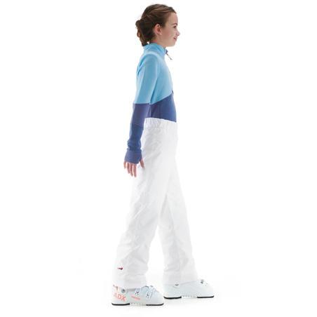 CHILDREN'S SKI PANTS 100 - WHITE