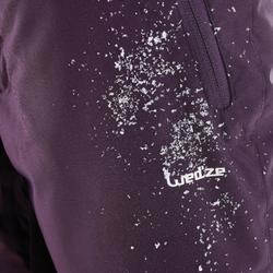 Skihose Piste 500 Kinder violett