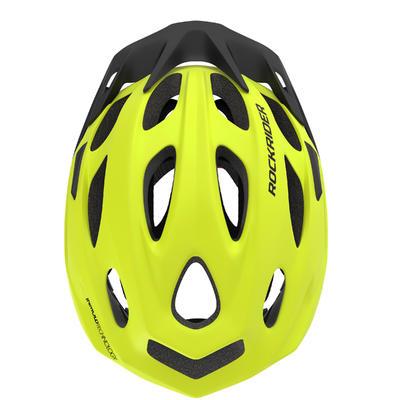 Шолом 500 для катання на гірському велосипеді - Неоново-жовтий