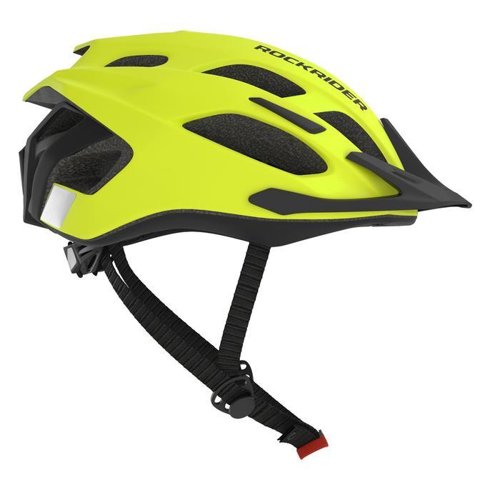 Fahrradhelm MTB 500 neongelb