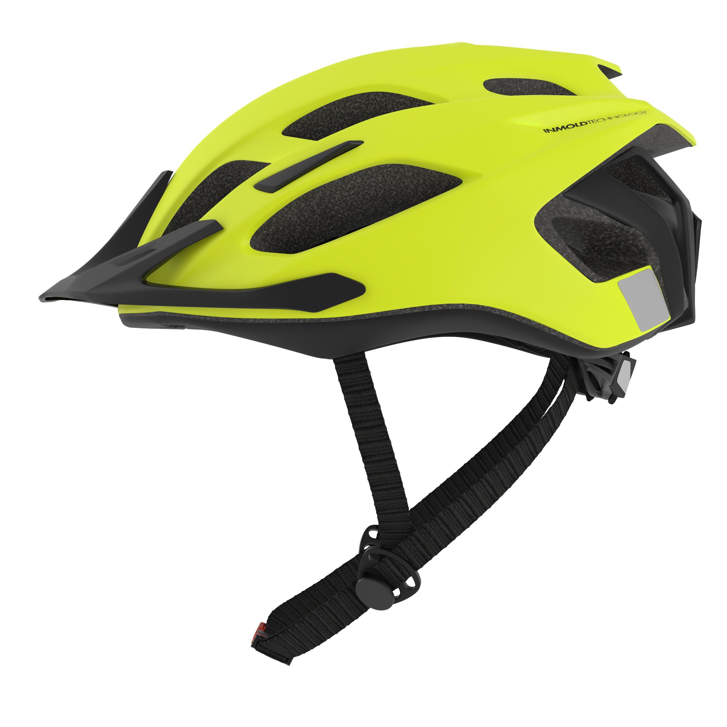 Mountain Biking Helmet 500 - Neon Yellow - L By ROCKRIDER | Decathlon