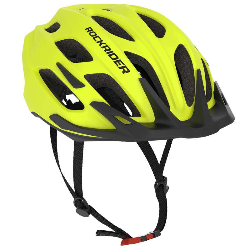 SPORT TRAIL MTB HELMETS ADULT Cycling - 500 Mountain Biking Helmet - Neon ROCKRIDER - Cycling