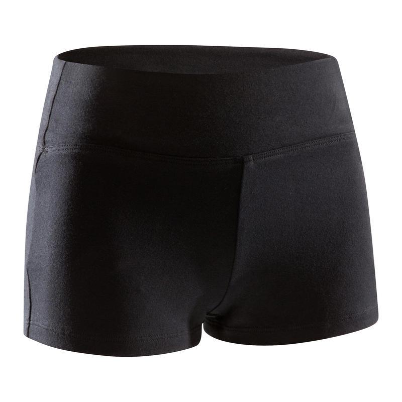 מכנסי ריקוד קצרים לבנות - שחור